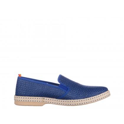 Mocasini albastri Gryxx, din material textil
