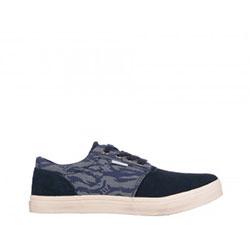 Pantofi casual Gryxx bleumarin, din piele intoarsa si material textil