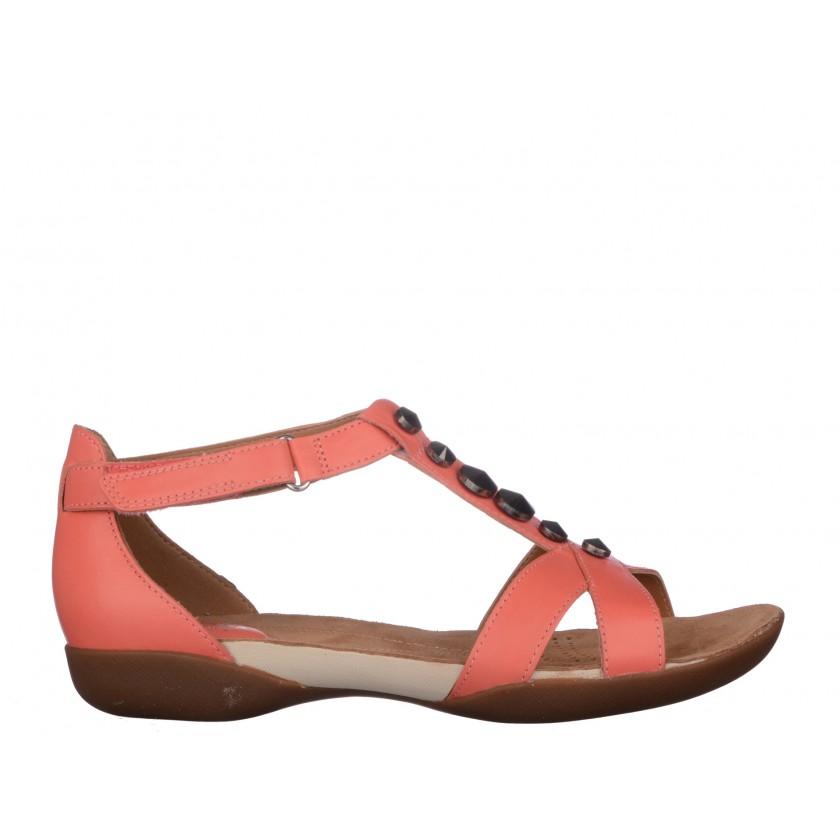 Sandale CLARKS corai, din piele naturala