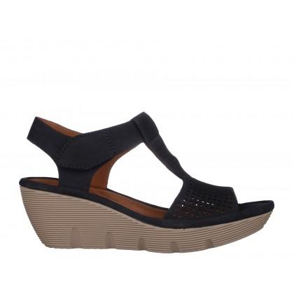Sandale CLARKS bleumarin, din nabuc