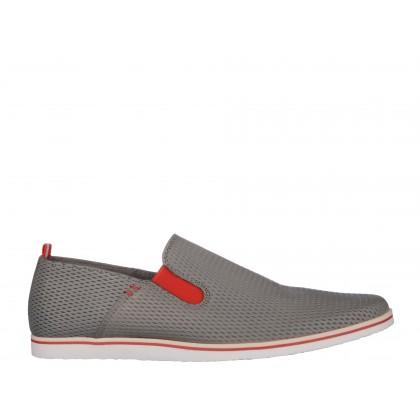 Pantofi COXX gri, din piele naturala