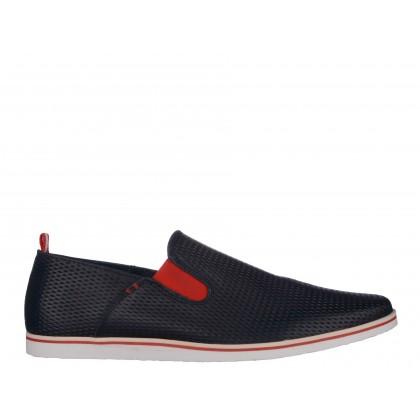 Pantofi COXX bleumarin, din piele naturala