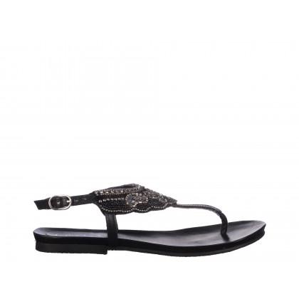 Sandale Epica negre, din piele naturala