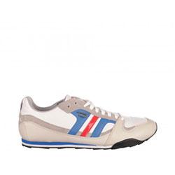 Pantofi sport Diesel albi, din piele naturala